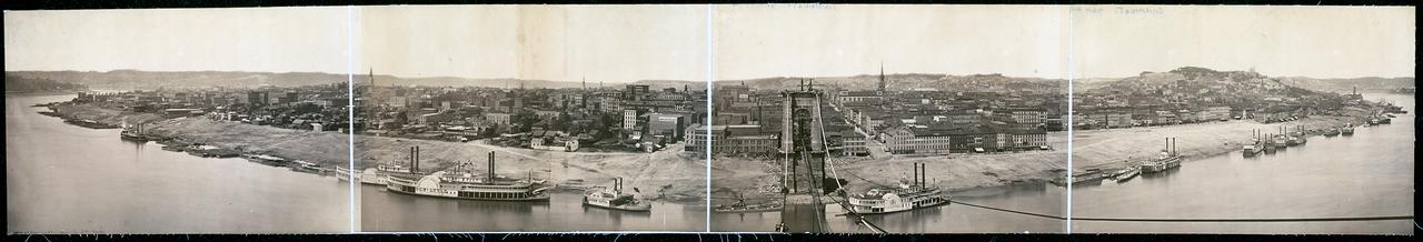 1866. Вид Цинциннати, штат Огайо
