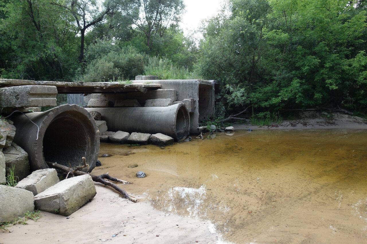 брод и остатки моста