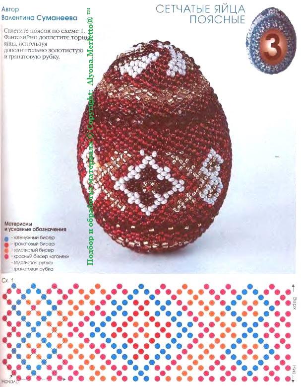 Схемы пасхальных оплетения яиц бисером пасхальная тематика