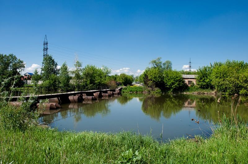 Понтонный мост на ЧМЗ (у Мельзавода). Фото ssgen (23.01.2014)