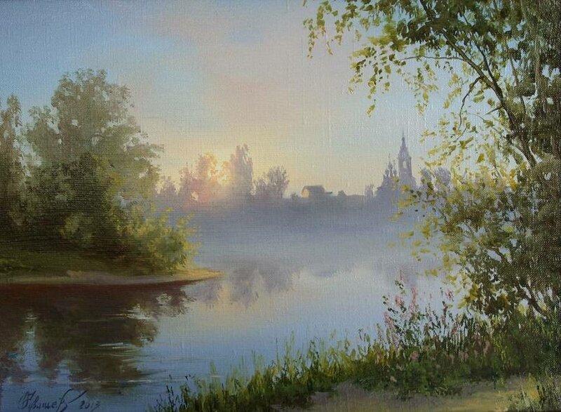 Белорусский художник Олег Чувашев. Нежные пейзажи и натюрморты 0 1110d0 663b0f7a XL