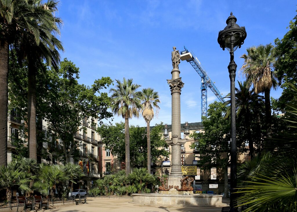 Барселона. Площадь герцога  Мединачели  (Plaza del Duque de Medinaceli)