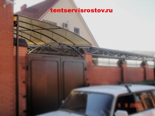 Навес из поликарбоната tentservisrostov.ru