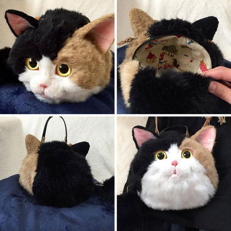 Крипотно или мило? Кошачьи сумки — новый тренд в Японии