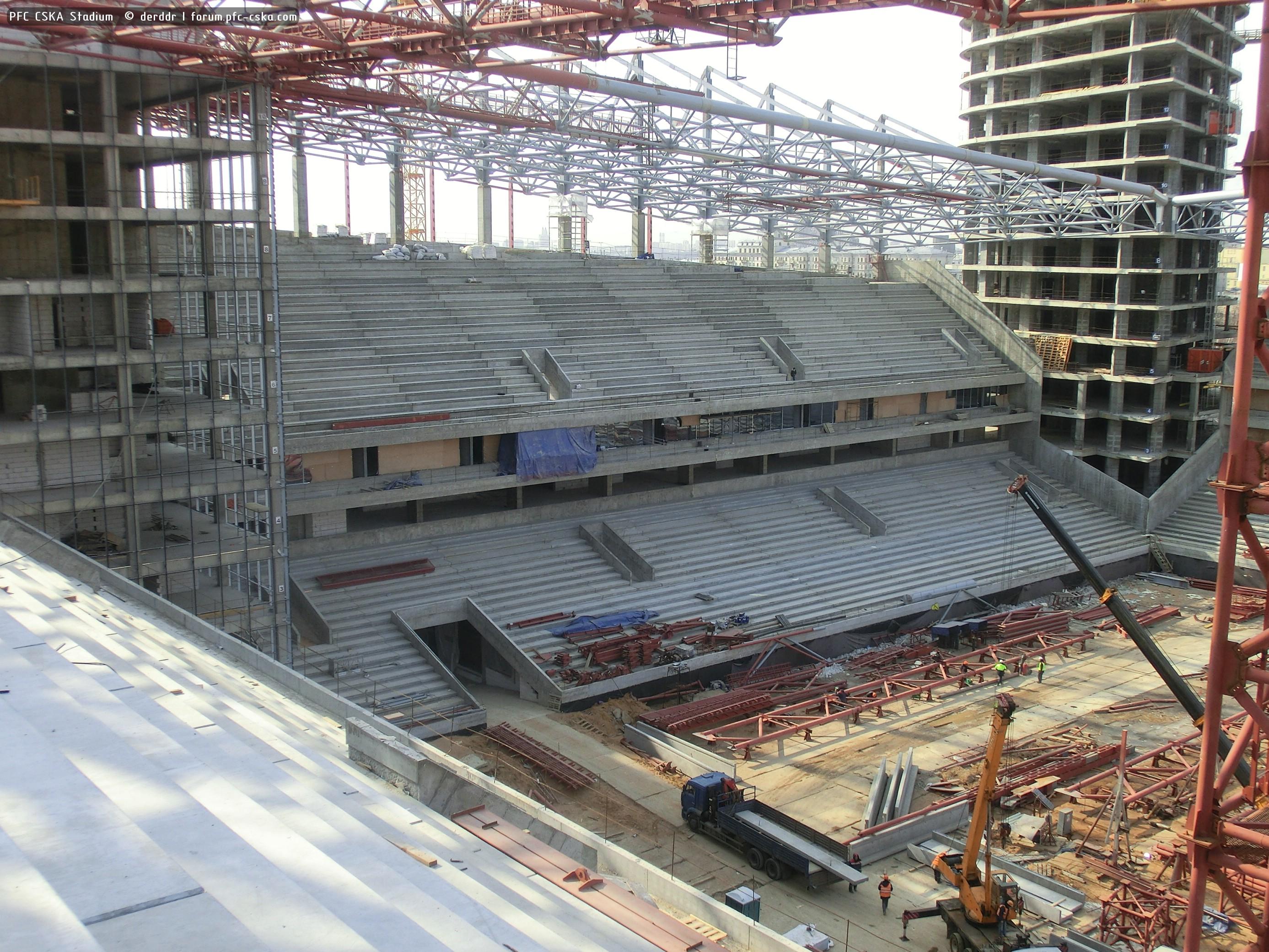 футбол стадион цска строительство фото отдельных можно угадать