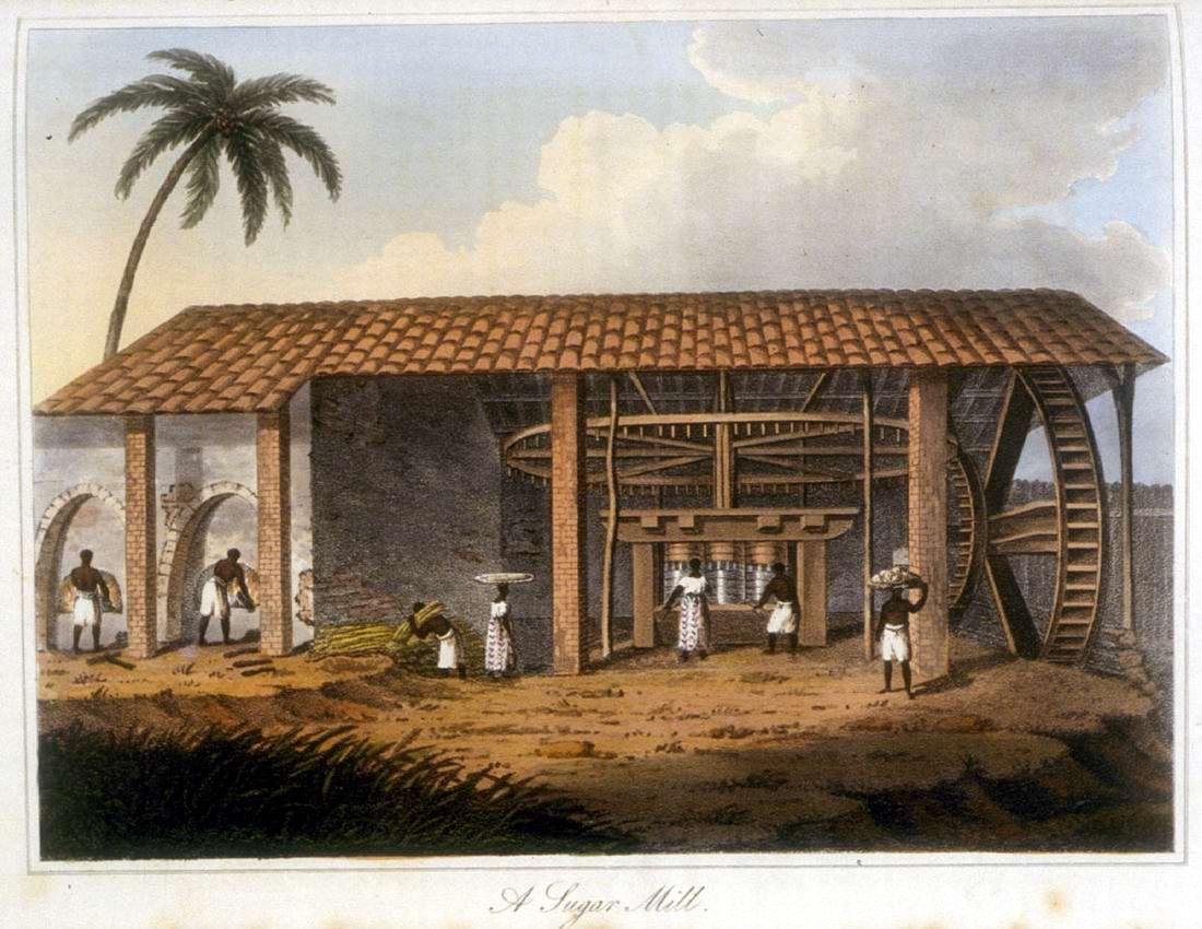 Рабы и сахарный завод (Бразилия, 1816 год)