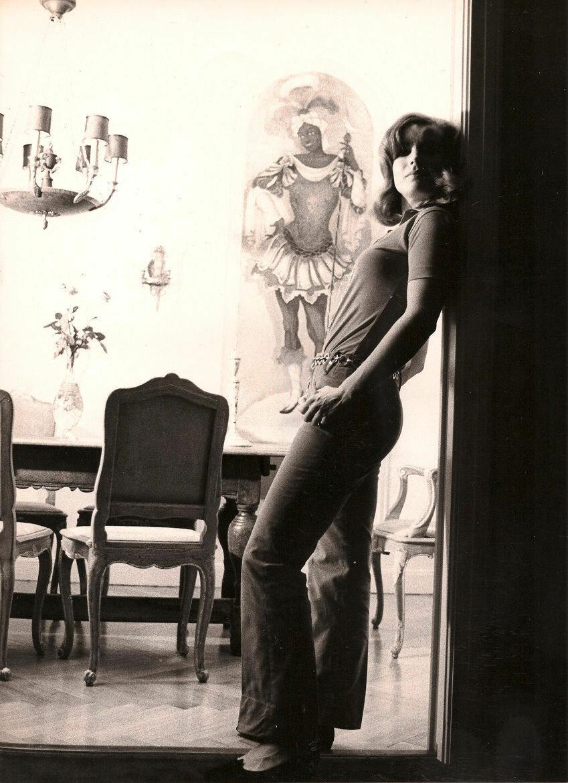 Роми Шнайдер у себя дома