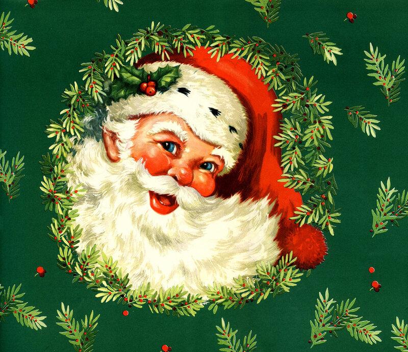 Нарисовать ретро открытку с новым годом
