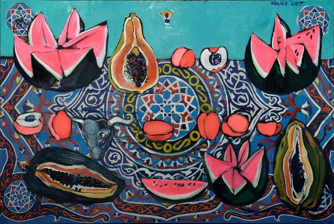 Многие полотна Карине отличают чувственность, эротизм, вырывающаяся наружу жизненная сила…
