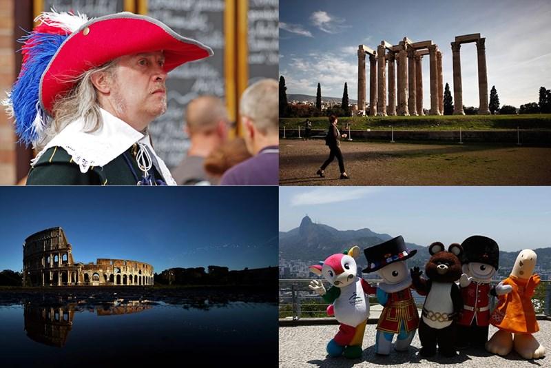 Исторические памятники на современных фотографиях в новостях