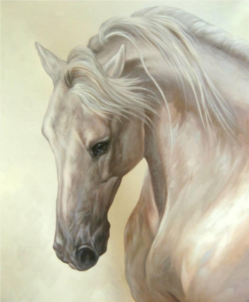 схема кони на рассвете рисуем по номерам