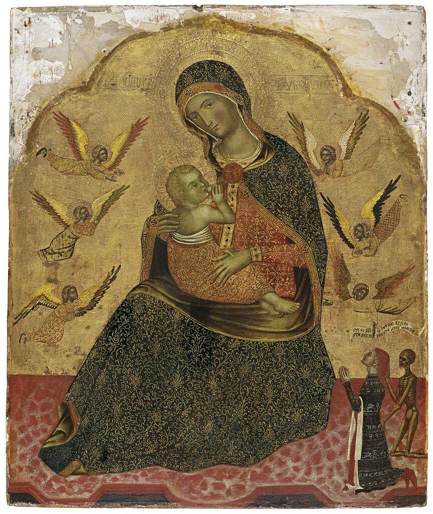 Anonymous Venetian Artist ca. 1360 - ���������� �������� � �������� � ���������, ��. 1360, 68,8 cm x 56,7 cm, ������, ������� � ������.jpg
