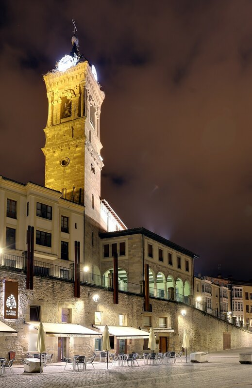 Vitoria-Gasteiz. Plaza del Machete. Church of the Holy Martyr Vicente (Iglesia de San Vicente Mártir)