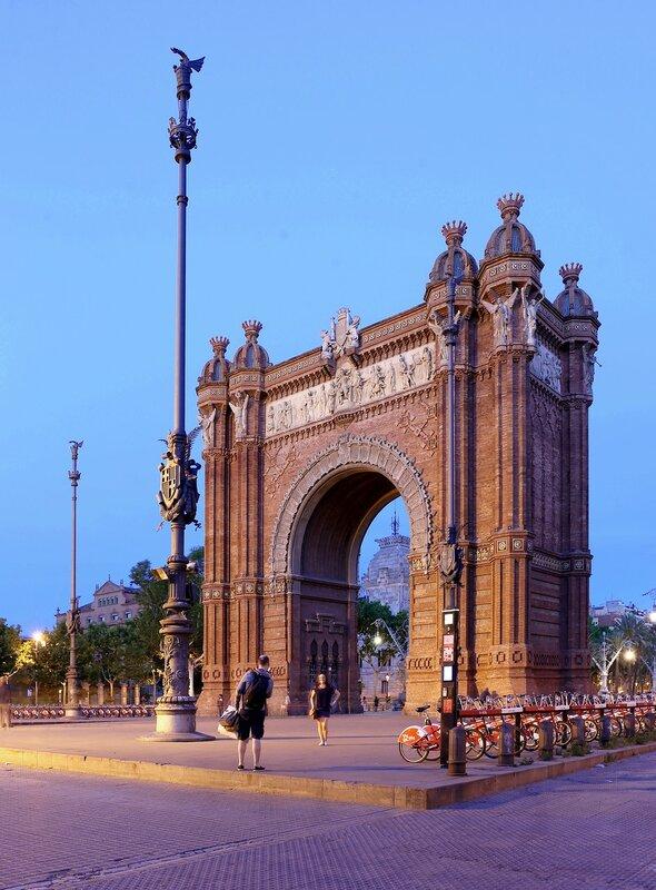 Barcelona. The arch of triumph