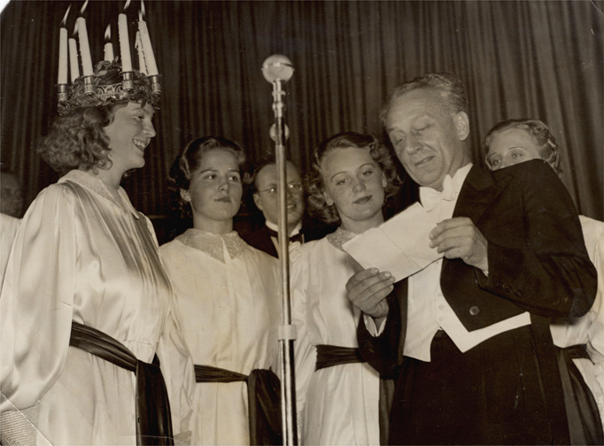 Albert Szent-Gyorgyi, won the Nobel Prize in Physiology or Medicine in 1937. At the Santa Lucia feast in Stockholm same winter.