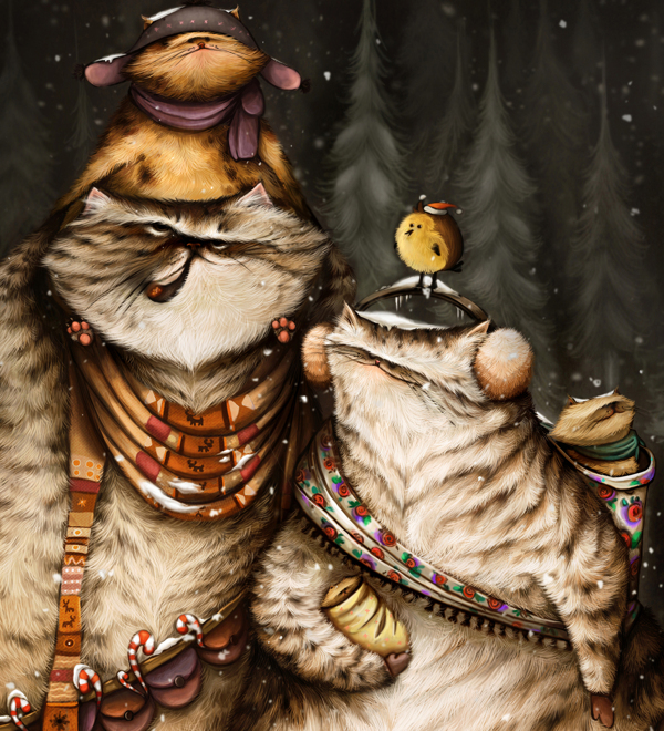 Anuk / Ann Baratashvili - иллюстрации и цифровой арт. Cat Familly и Kº