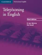 Книга Аудиокурс-«Telephoning in English - 3rd edition»