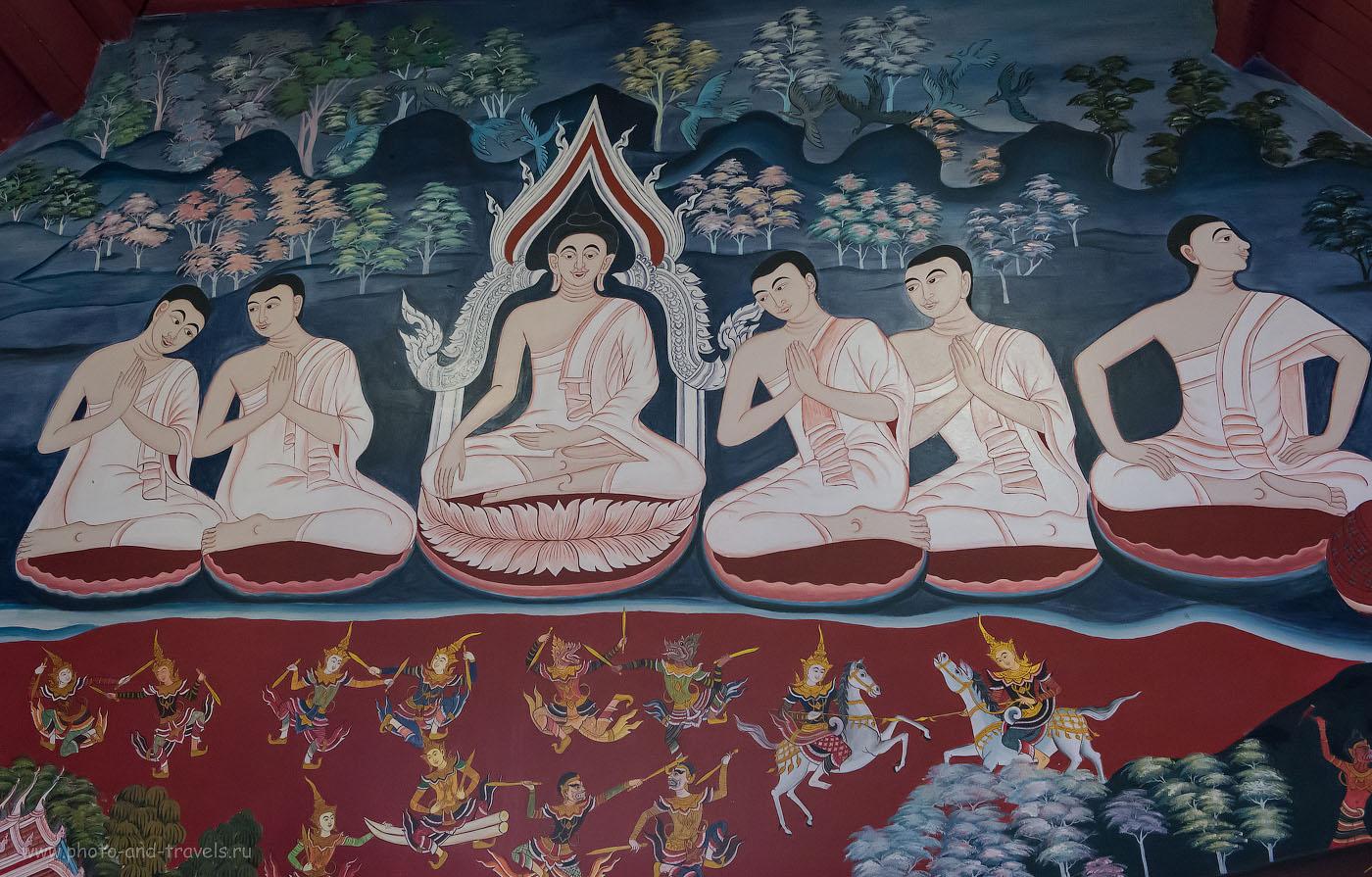 21. Фрески внутри тайского храма