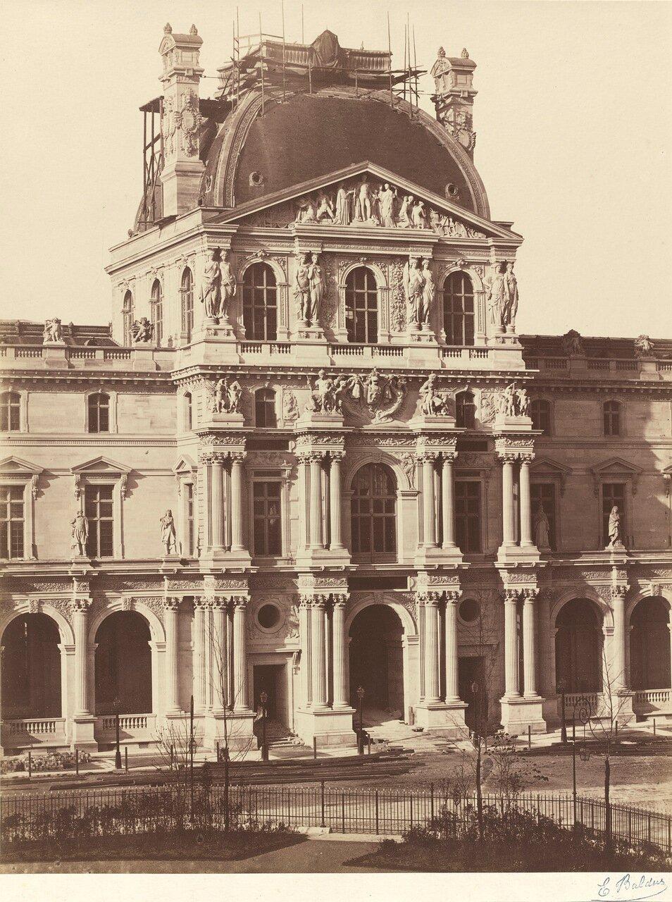 1855-1857. Вид на Лувр