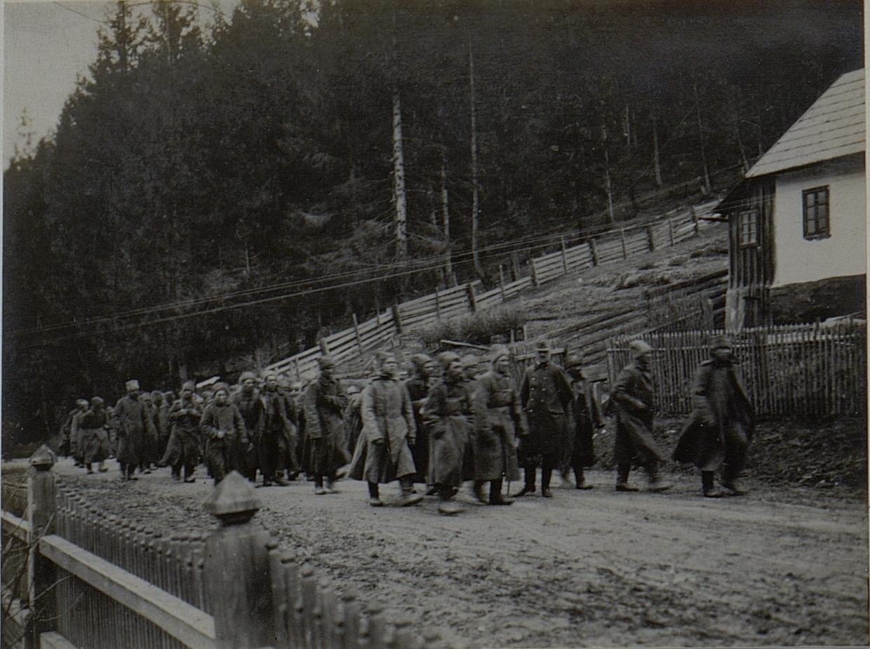 Колонна русских военнопленных