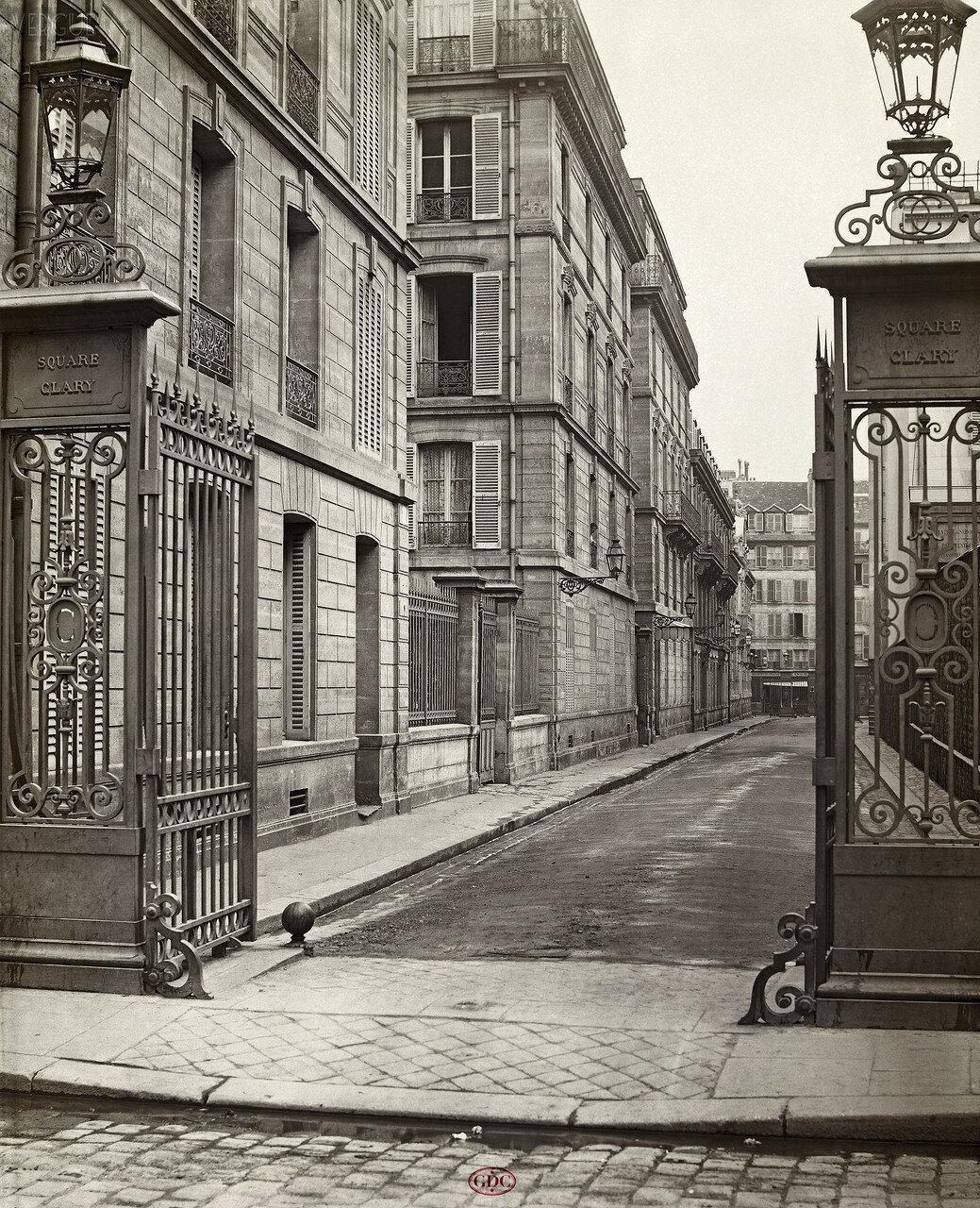 Площадь Клари. 1865