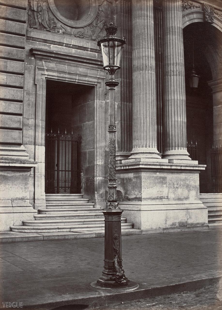 Газовый фонарь у Павильона Мольен. 1868