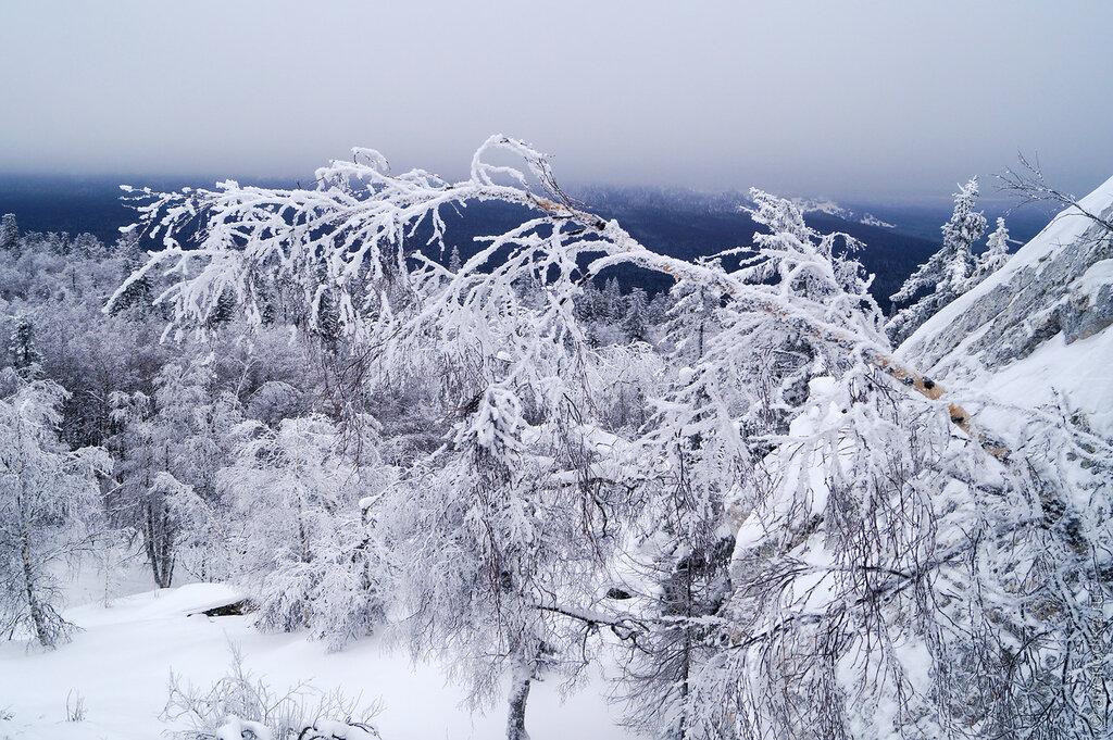 Златоуст. Черная скала - зима 2015