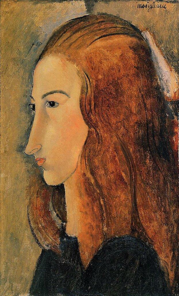 Portrait of Jeanne Hebutern - 1918 - Yale University Art Gallery - New Haven, CT - Painting - oil on canvas.jpeg