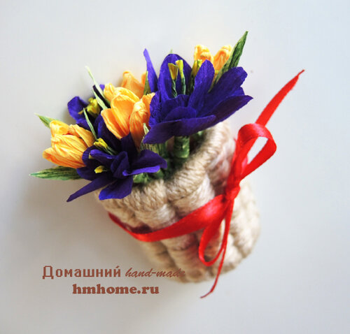 Магнит Корзинка с цветами