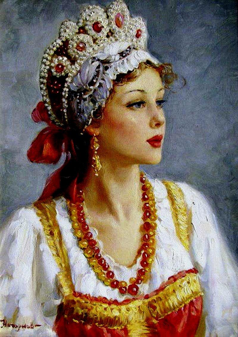 Русская красавица-нет тебя милей