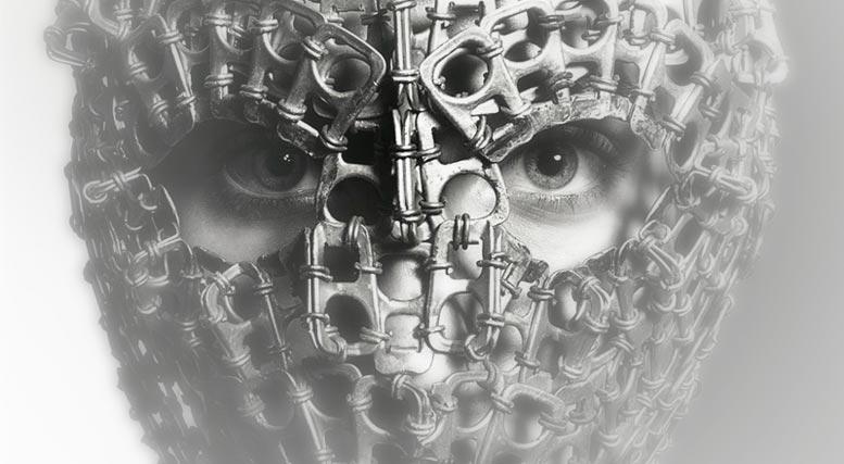 Stunning mask by Richard Burbridge in Livraison Magazine issue 03-2008