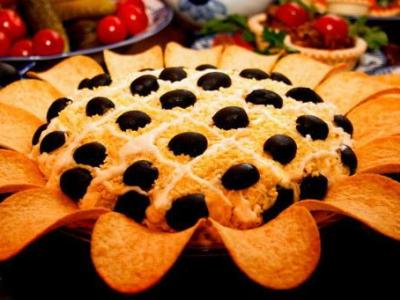 Салаты вкусные рецепты подсолнух