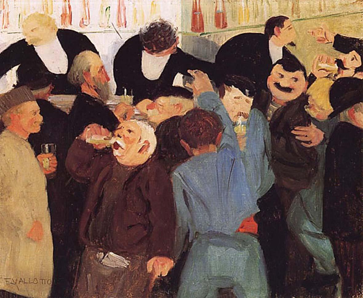 Бистро. 1895. Валлотон, Феликс (1865— 1925) The Bistro, Felix Vallotton
