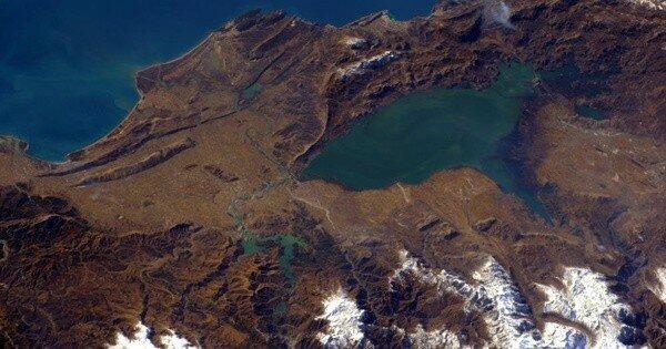 Скадарское озерос космоса