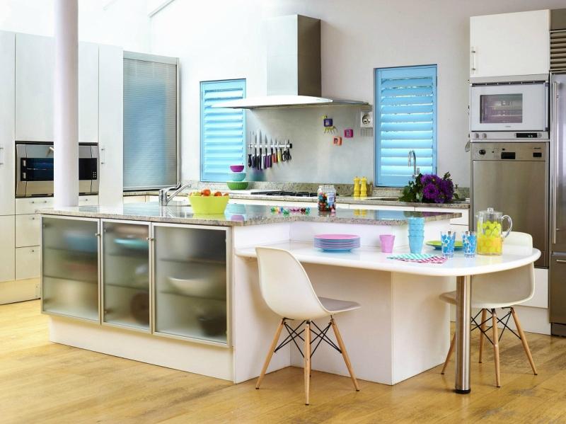 Белый цвет в интерьере кухни, фото 14