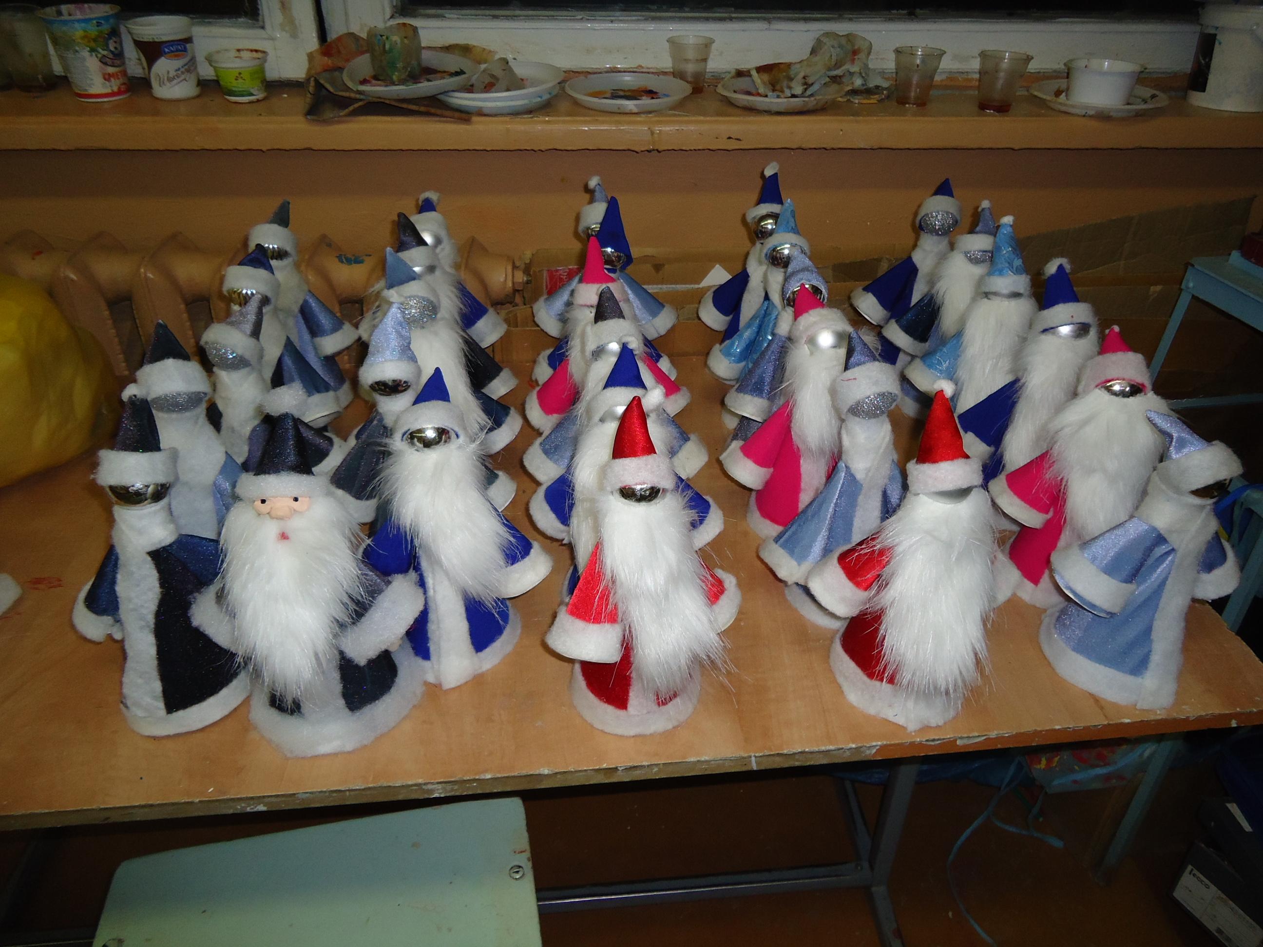 Дед мороз своими руками мастер класс из картона
