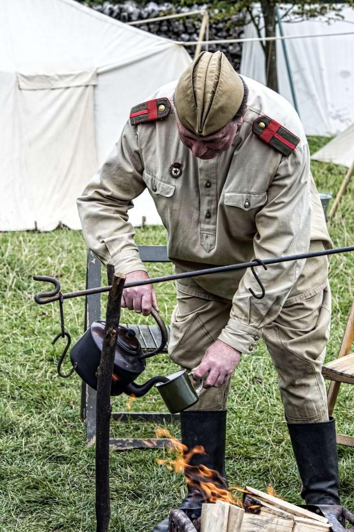 Солдаты Советской Армии в британских реконструкциях сражений 2-й мировой войны (9)