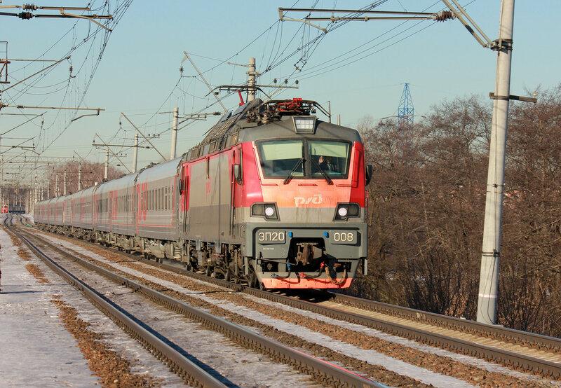 ЭП20-008 с поездом Москва-Анапа