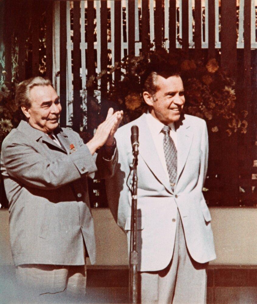 1962. Л.И.Брежнев с Р.Никсоном