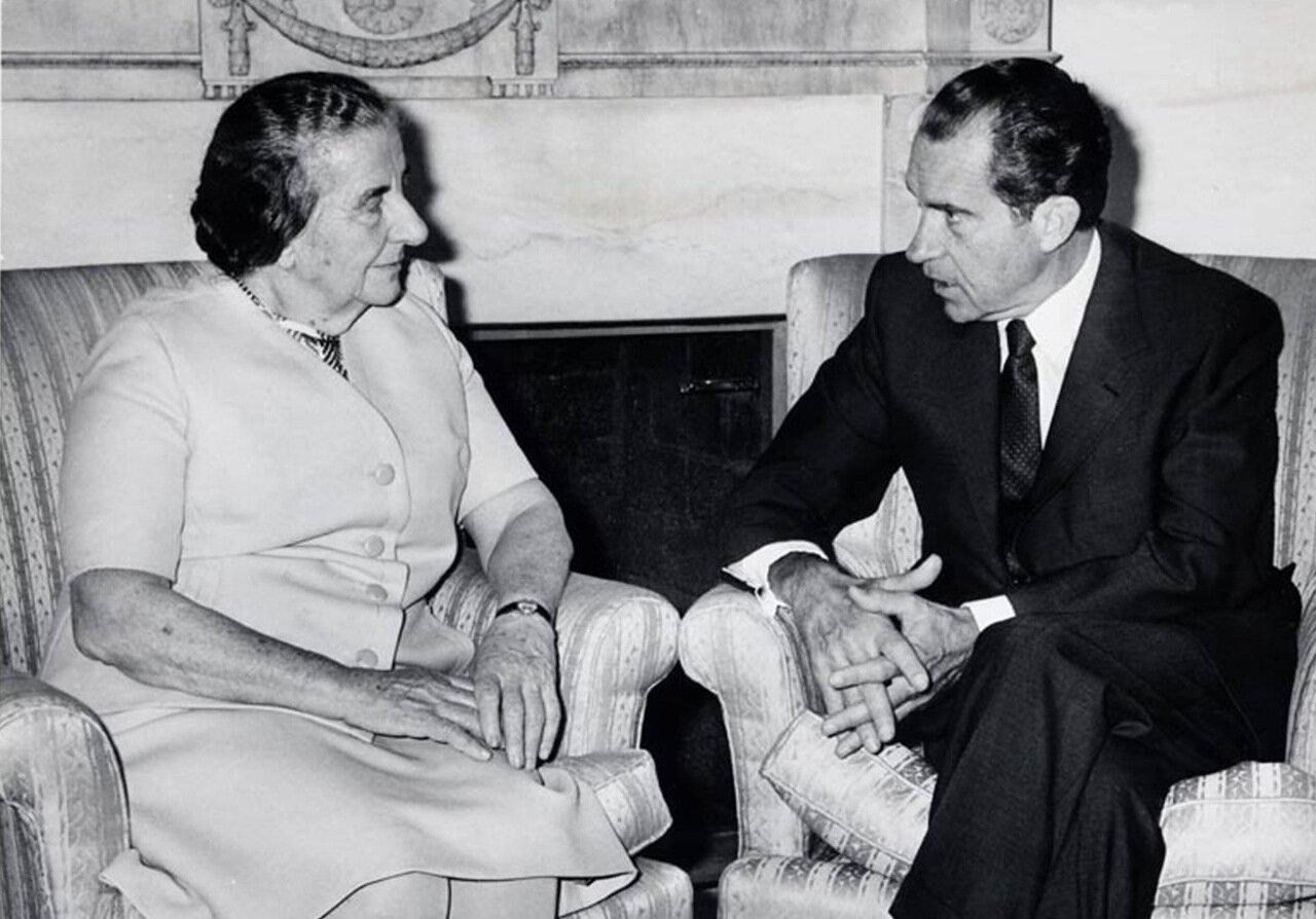 1969. Голда Меир и Ричард Никсон