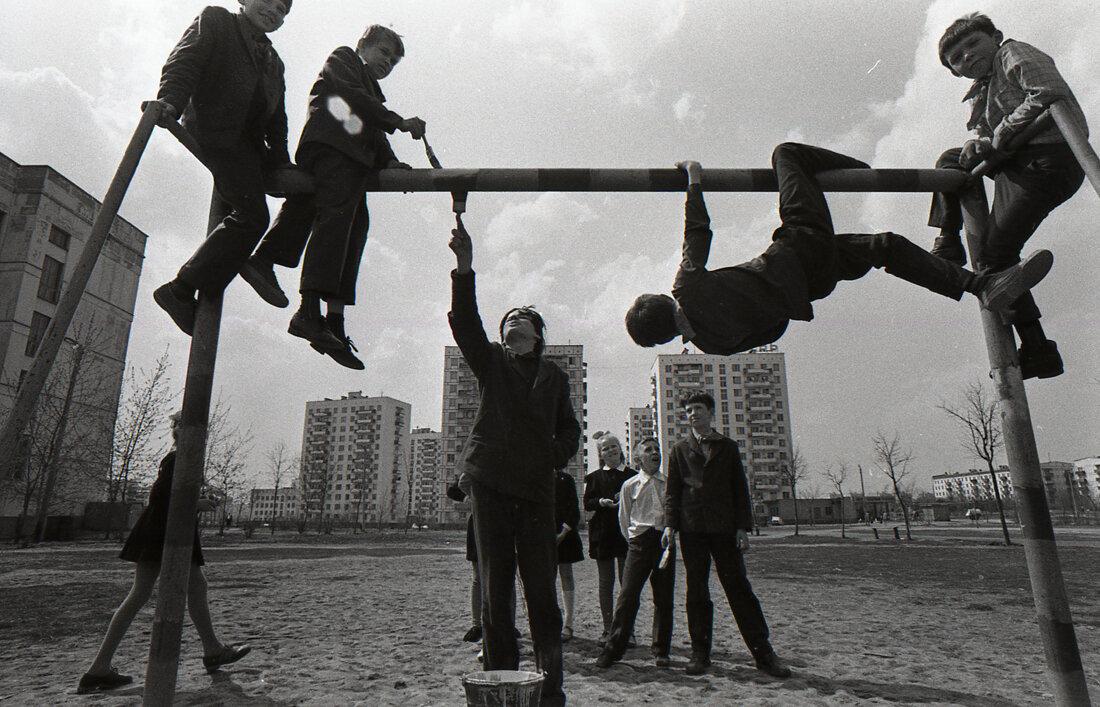 Бескудниковский бульвар. Стадион школы №244.1970-е