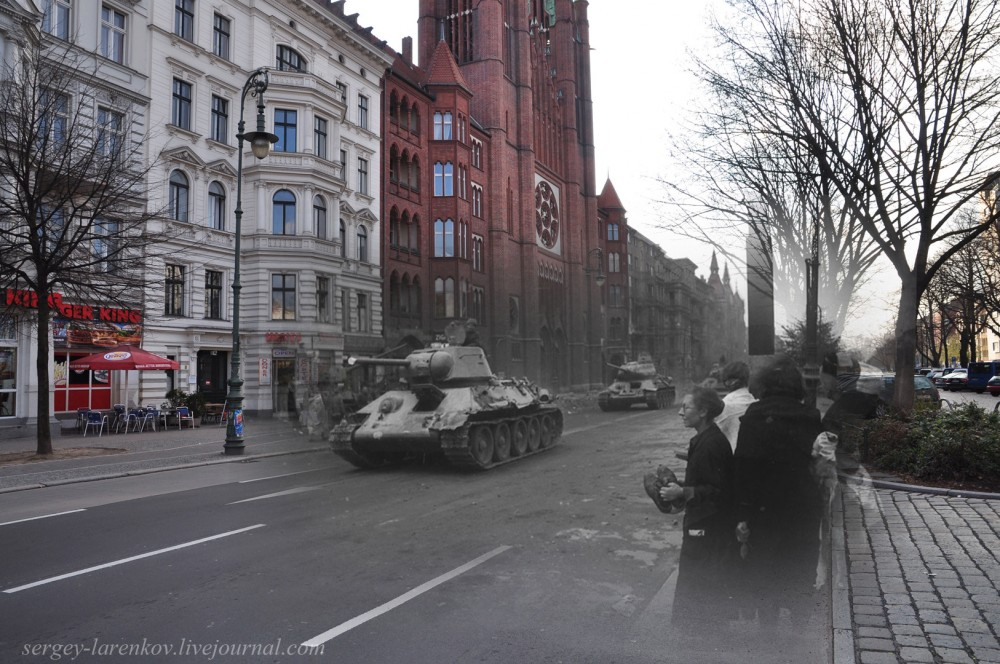 48 Советские танки на ул. Мерингдамм - Mehringdamm.jpg