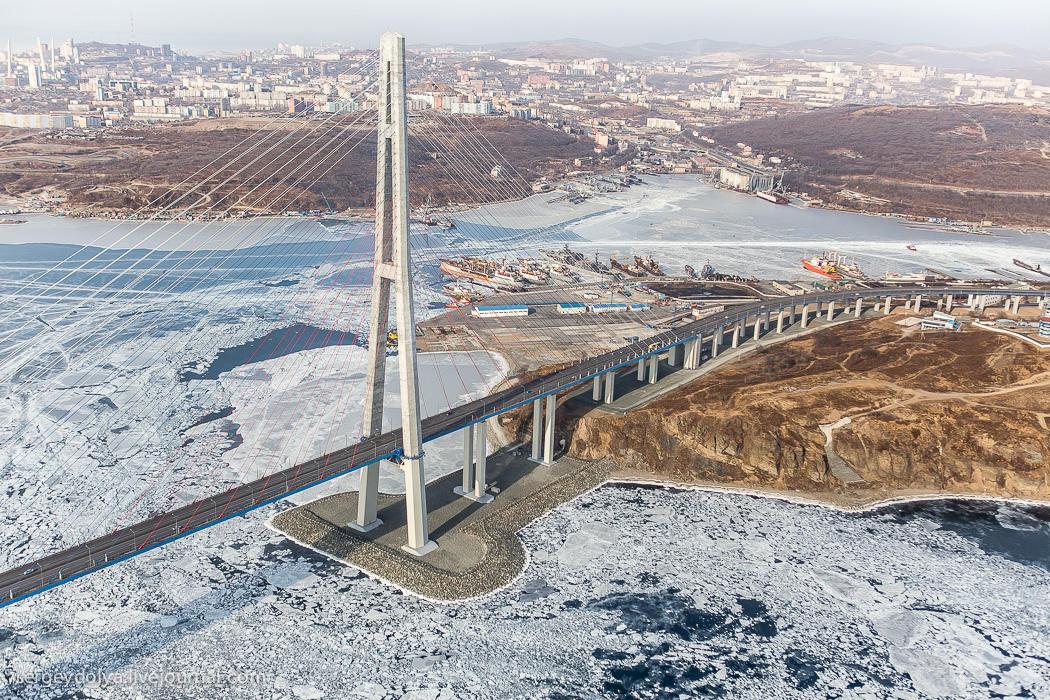 Владивосток, Русский остров и побережье с вертолета