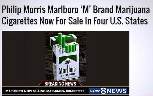 Россия и Запад: В США поступили в продажу сигареты с марихуаной