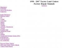 Книга Toyota Land Cruiser Factory Repair Manual.