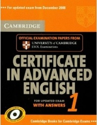 Аудиокнига Cambridge Certificate in Advanced English 1 (with answers)