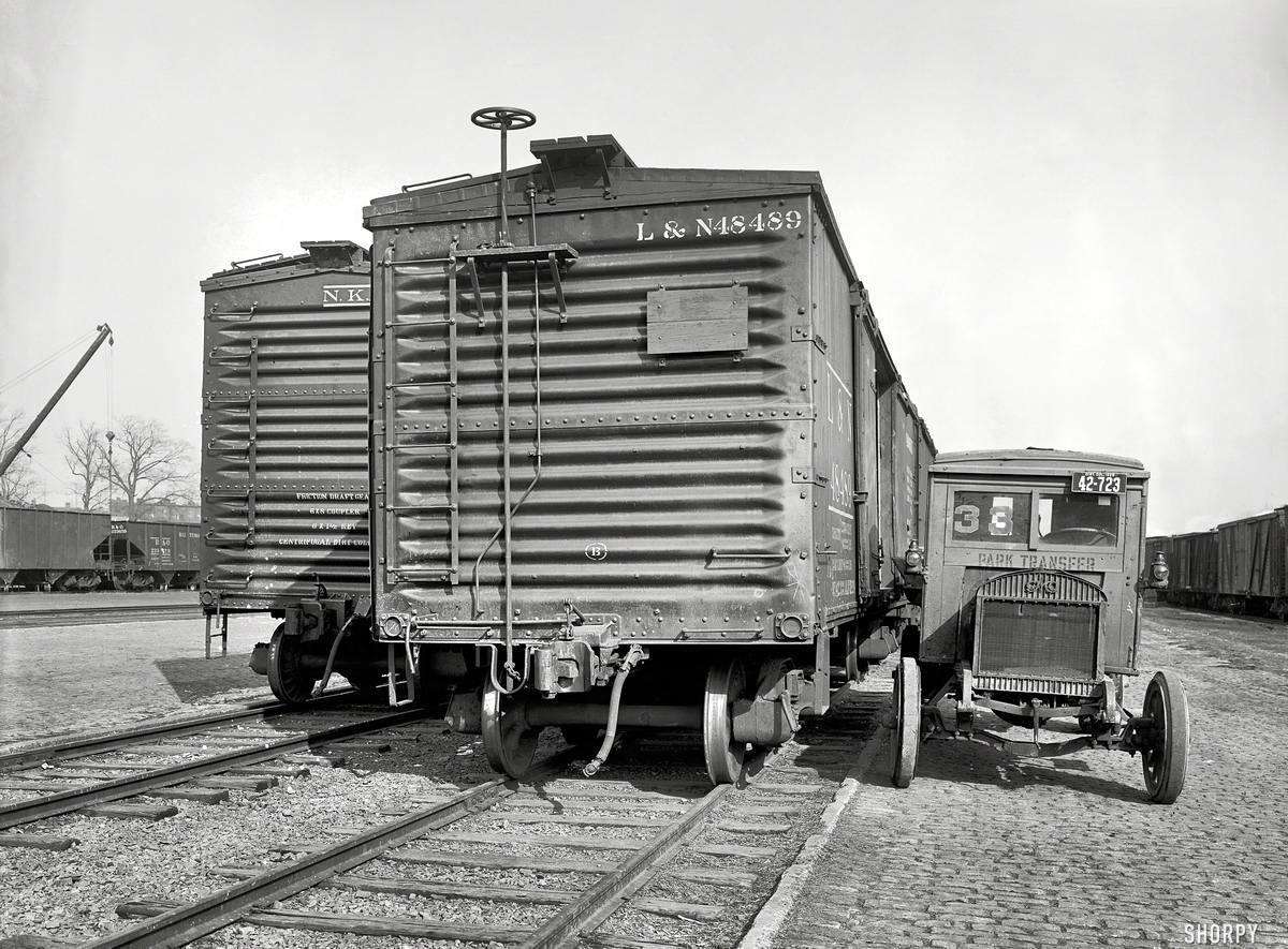 Железные дороги  начала 20-го века на снимках американских фотографов (81)
