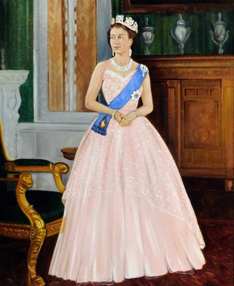 Ее Величество Королева Елизавета II (b.1926)по Джеймс Е. Барлинг
