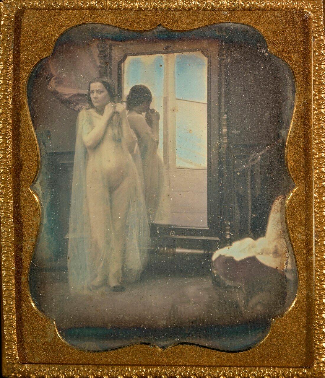 1850. Обнаженная у зеркала