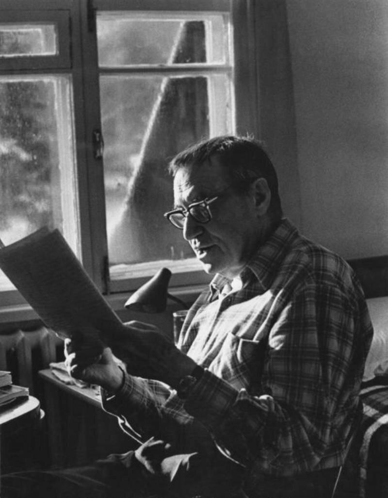 1960. Писатель Валентин Катаев